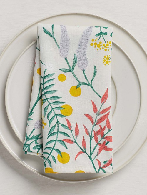 Botanical-bouquet-napkin