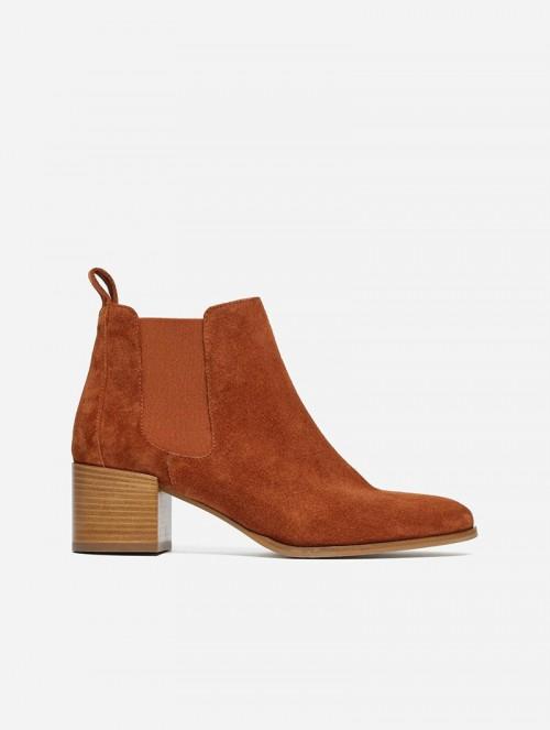 The Heel Boot Rust Suede