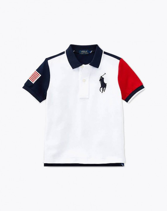 Blocked Cotton Mesh Polo