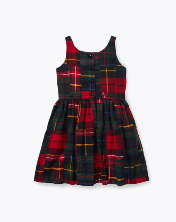 Red Tartan Patchwork Dress