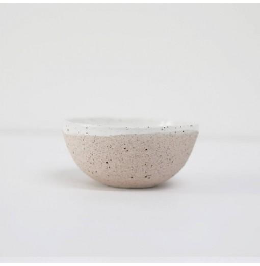 Porcelain textured check bowl