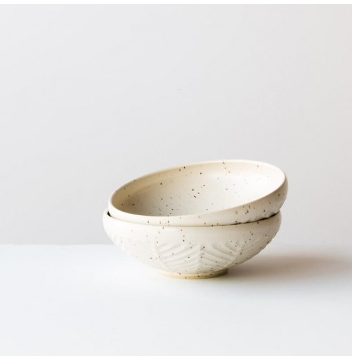Tea Bowl - Herringbone Pattern