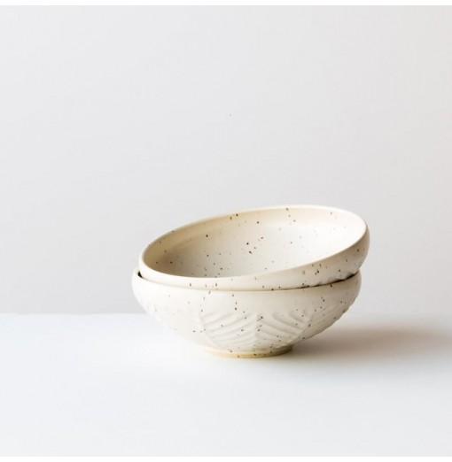 Tea Bowl - Herringbone Pattern